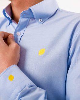 camisa azul sir lemon detalle 2