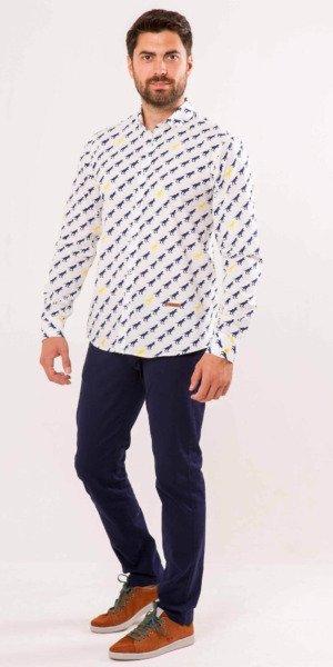 camisa-hombre-sirlemon-estampado-original-dinosaurio
