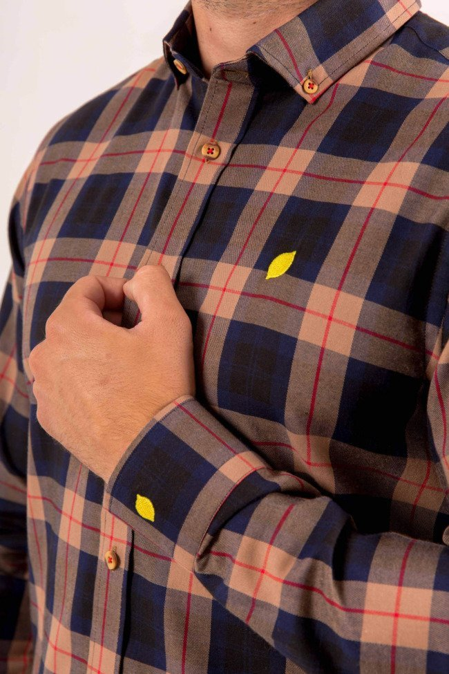 camisa-hombre-sirlemon-cuadros-leñador