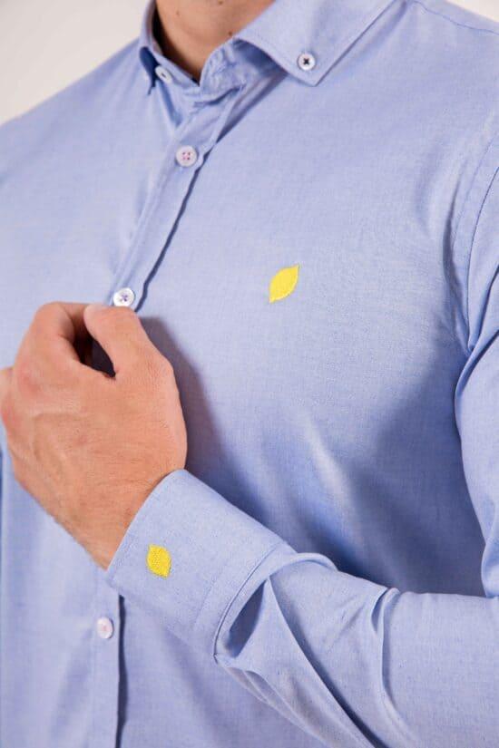 camisa-sir-lemon-celeste-detalle