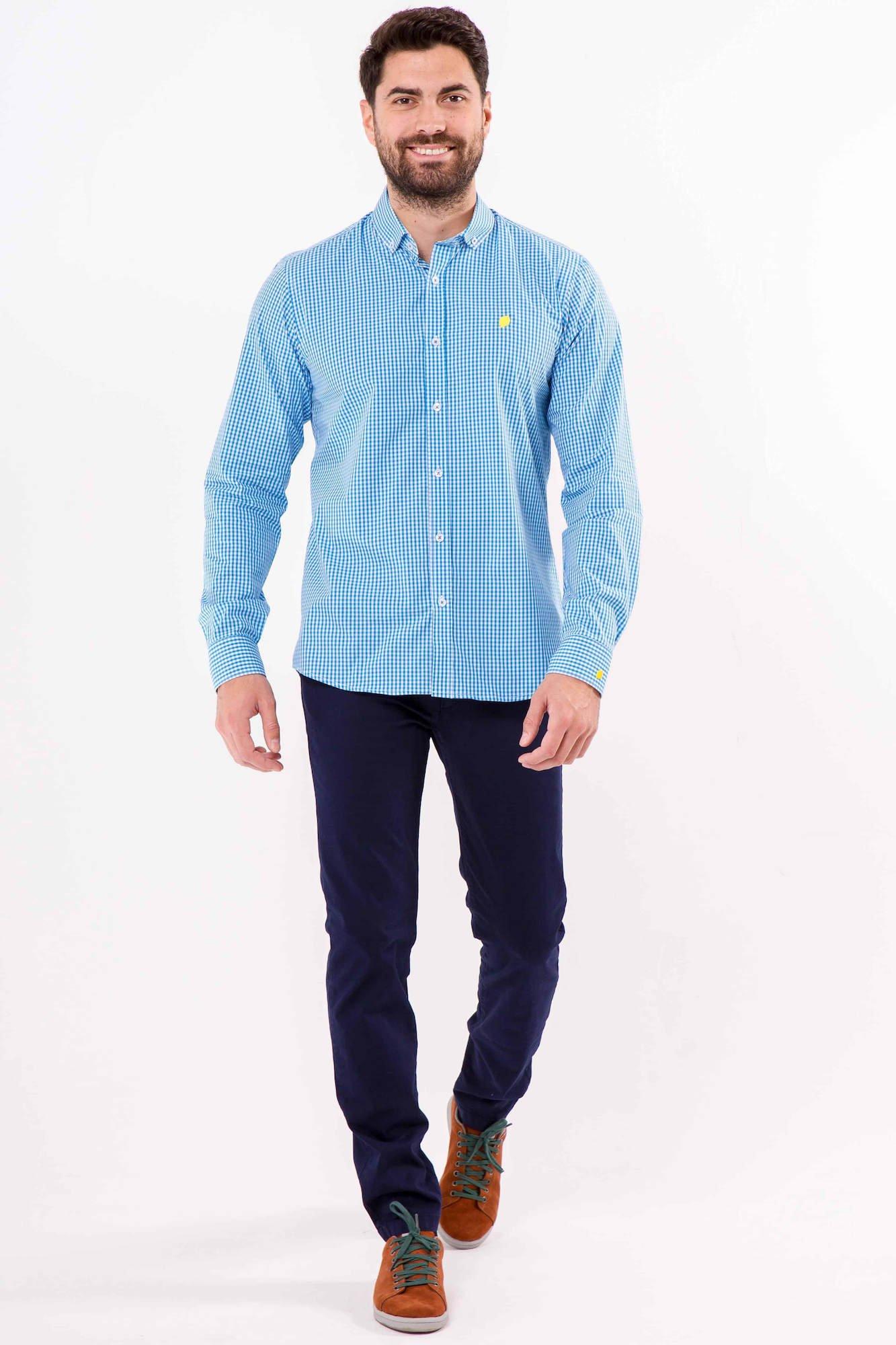 camisa-sir-lemon-vichy-blue