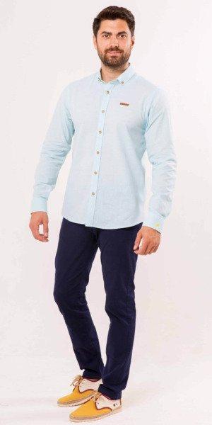 camisa-sir-lemon-pata-de-gallo-verde-algodón-lino