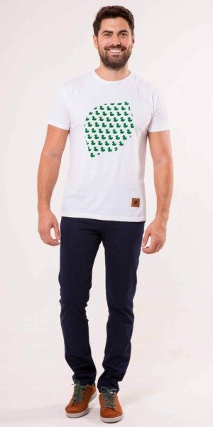 camiseta-sir-lemon-patitos-verde-blanco-unisex