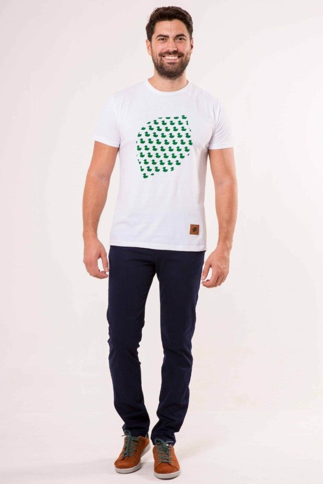 camiseta-sir-lemon-patitos-verde-blanco-unisex