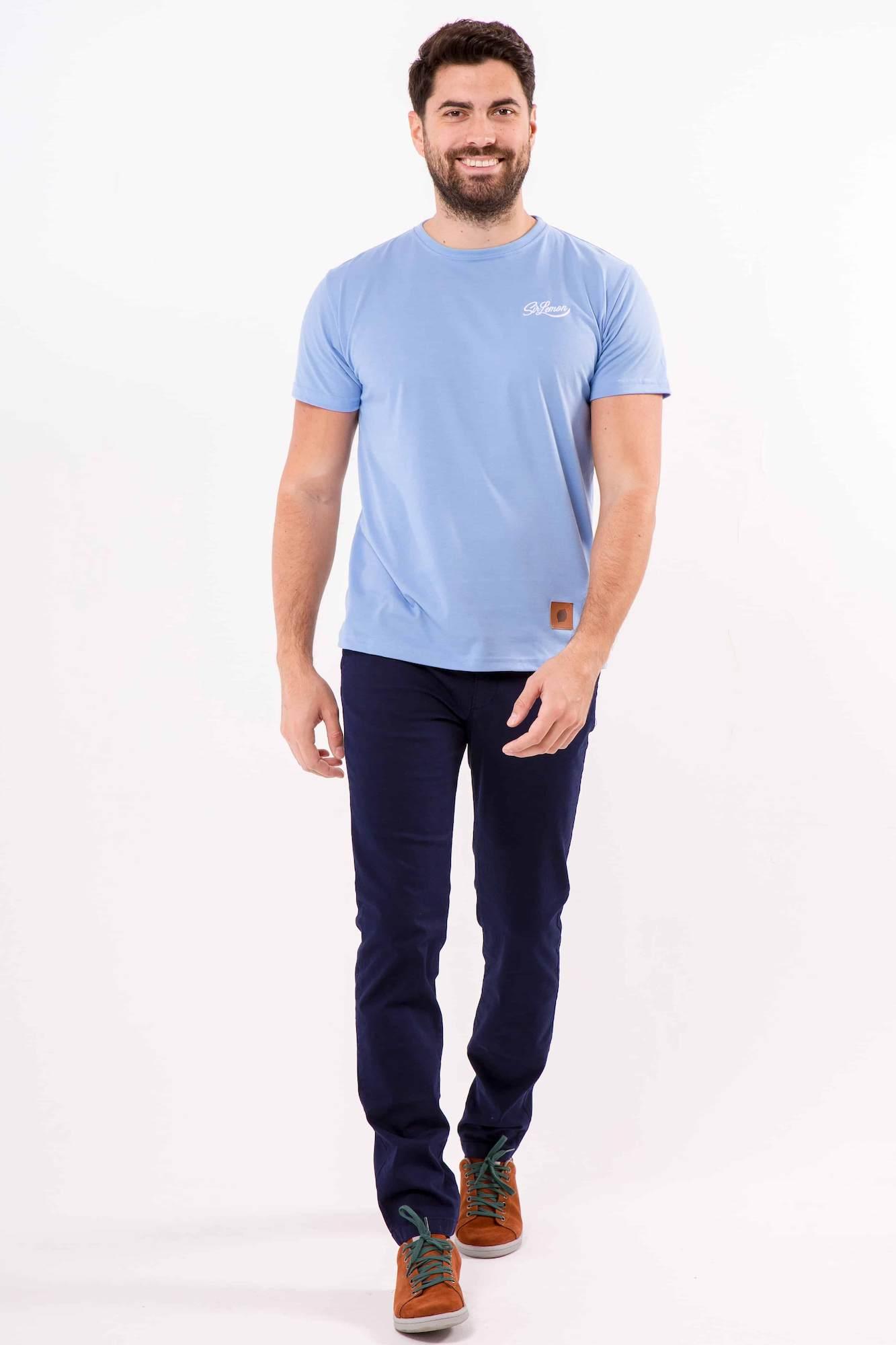 camiseta-sir-lemon-vintage-celeste