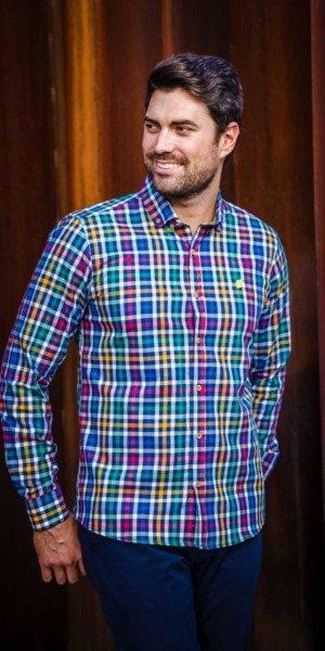 camisa-de-hombre-sir-lemon-cuadros-colores